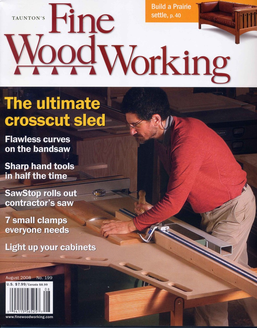 The Ultimate Crosscut Sled Fine Woodworking Magazine No 199 Cover